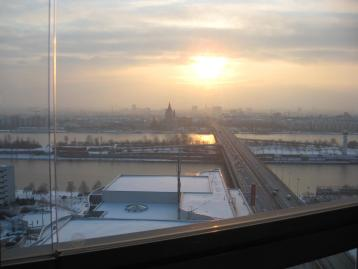 Aussicht von der Wohnung im Winter