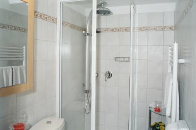 bad mit dusche regen tropfen central apartments vienna apartment 13. Black Bedroom Furniture Sets. Home Design Ideas