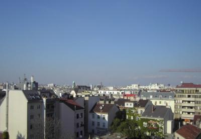 Blick über Wien von der Terrasse