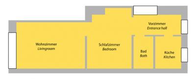new imageFloor plan of studio apartment 13
